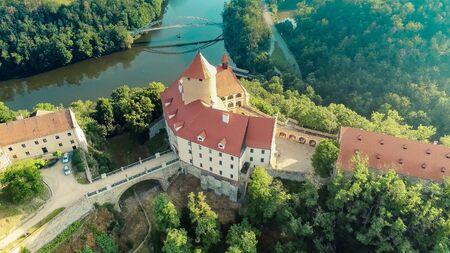 The castle Veveri in Brno Bystrc from above, Czech Republic Standard-Bild - 138746252