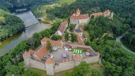 The castle Veveri in Brno Bystrc from above, Czech Republic Standard-Bild - 138746306