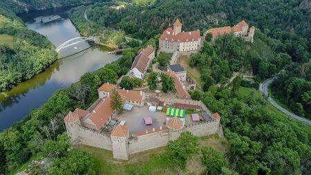 The castle Veveri in Brno Bystrc from above, Czech Republic Standard-Bild - 138746307