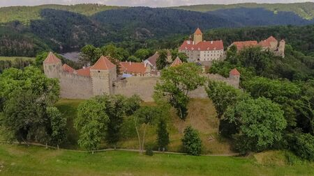The castle Veveri in Brno Bystrc from above, Czech Republic Standard-Bild - 138746314
