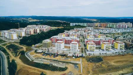 Housing estate Kamechy in Brno - Bisterz from above, Czech Republic
