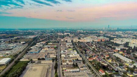 Vienna district Donaustadt from above, Vienna, Austria Imagens