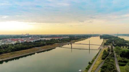 Danube Island from above, Vienna, Austria Standard-Bild