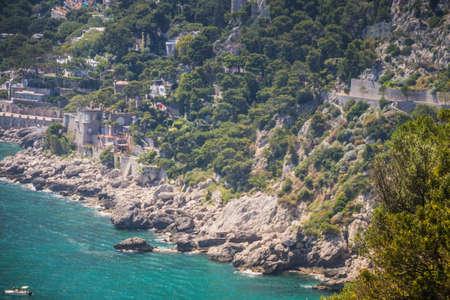 The observation deck Belvedere Tragara in Capri, Italy Standard-Bild