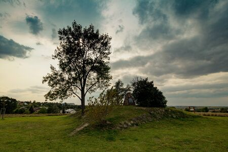 The burial mound Mohyla at White Mountain in Prague, Czech Republic