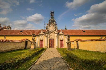 The Benedictine Monastery Venio at the White Mountain in Prague, Czech Republic Imagens