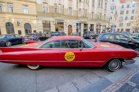 Dvorakovo nabrezi Dvo??k quay in Prague, Czech Republic Imagens - 128407099