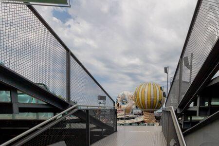 Floating Stage of the Bregenz Festival in Bregenz on Lake Constance, Austria Imagens