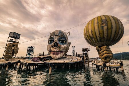 Floating Stage of the Bregenz Festival in Bregenz on Lake Constance, Austria Stock Photo