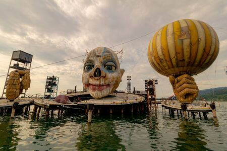 Floating Stage of the Bregenz Festival in Bregenz on Lake Constance, Austria Imagens - 132053626