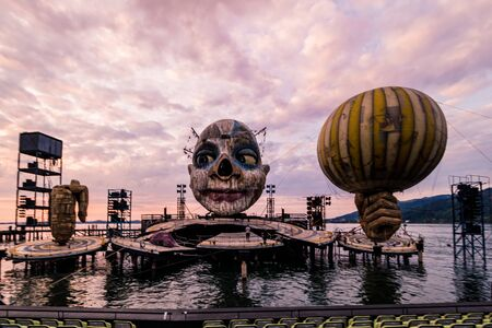 Floating Stage of the Bregenz Festival in Bregenz on Lake Constance, Austria