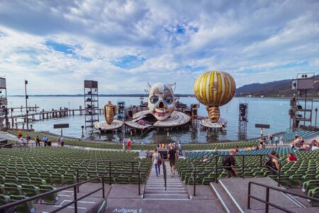 Floating Stage of the Bregenz Festival in Bregenz on Lake Constance, Austria Imagens