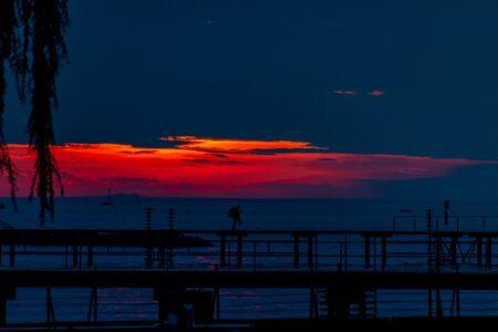 Sunset on Lake Constance in Bregenz, Austria Imagens - 132053670