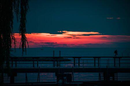 Sunset on Lake Constance in Bregenz, Austria Imagens - 132053660