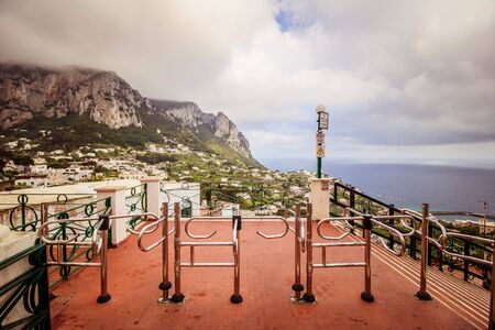 The famous Piazzetta in the center of Capri, Italy Reklamní fotografie