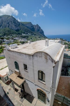 The famous Piazzetta in the center of Capri, Italy Stockfoto