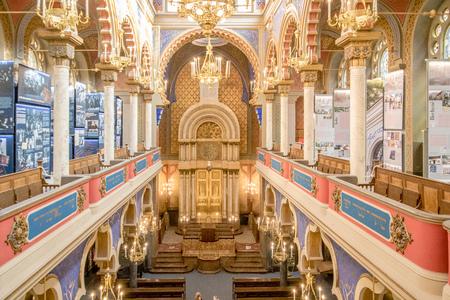 The Jerusalem Synagogue in Prague, Czech Republic Standard-Bild - 128836954