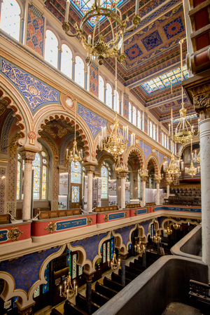 The Jerusalem Synagogue in Prague, Czech Republic