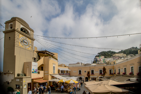 The famous Piazzetta in the center of Capri, Italy Redakční