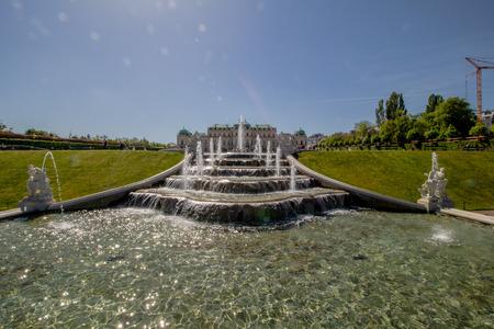 Palace garden of Belvedere in Vienna, Austria Standard-Bild - 128837004
