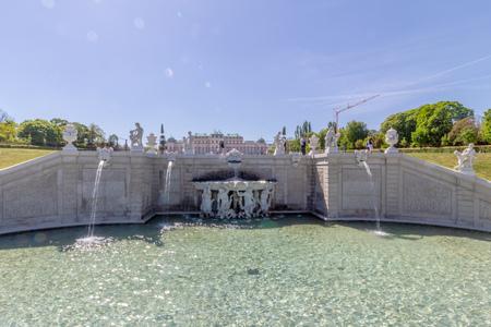 Palace garden of Belvedere in Vienna, Austria Standard-Bild - 128836999