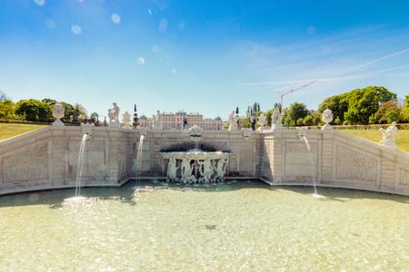 Palace garden of Belvedere in Vienna, Austria Standard-Bild - 128837003