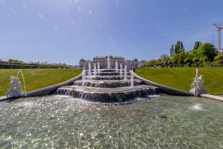 Palace garden of Belvedere in Vienna, Austria Standard-Bild - 128837016