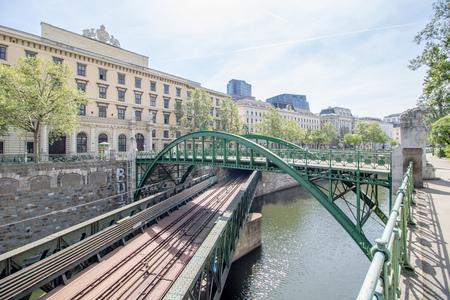 Vienna, Austria? 04/27/2018: The Customs office footbridge in spring Stock fotó - 131738876