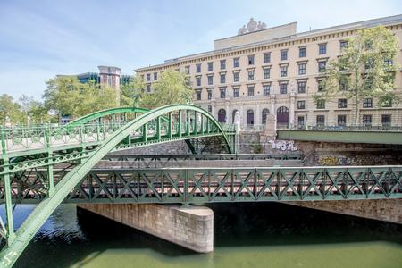 Vienna, Austria? 04/27/2018: The Customs office footbridge in spring Stock fotó - 131738884