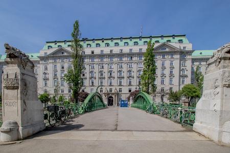 Vienna, Austria? 04/27/2018: The Customs office footbridge in spring Stock fotó - 131738889