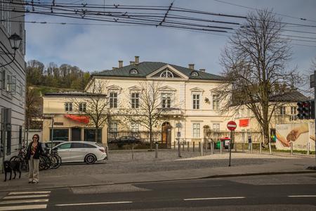 Mirabell Square (Mirabellplatz) in Salzburg, Austria Imagens - 133425934