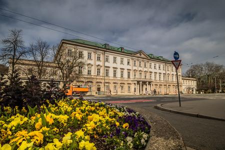 Mirabell Square (Mirabellplatz) in Salzburg, Austria Imagens - 133425939