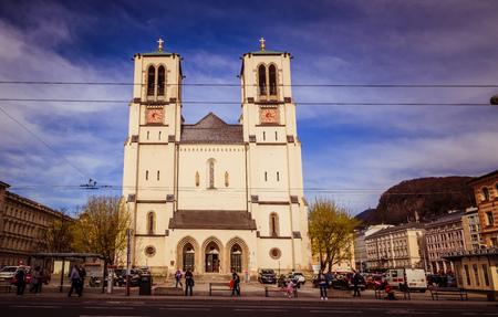 Mirabell Square (Mirabellplatz) in Salzburg, Austria Imagens - 133425941