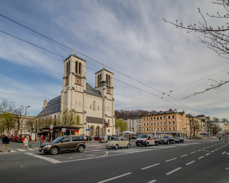 Mirabell Square (Mirabellplatz) in Salzburg, Austria Imagens - 133425943