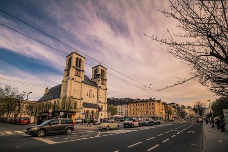 Mirabell Square (Mirabellplatz) in Salzburg, Austria Imagens - 133425946