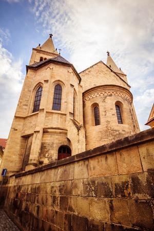 The third castle courtyard of Prague Castle at summer in Prague, Czech Republic Imagens - 133425962