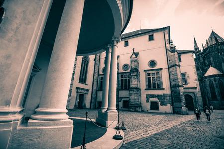 The third castle courtyard of Prague Castle at summer in Prague, Czech Republic Imagens - 133425963