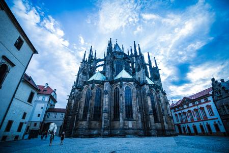 The third castle courtyard of Prague Castle at summer in Prague, Czech Republic Imagens - 133425965