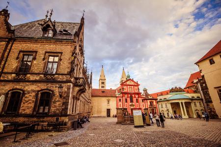 The third castle courtyard of Prague Castle at summer in Prague, Czech Republic Imagens - 133425967