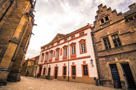 The third castle courtyard of Prague Castle at summer in Prague, Czech Republic Imagens - 133425968