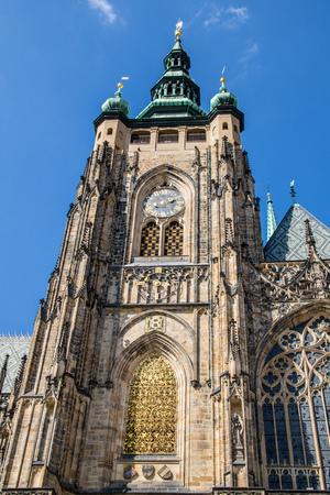 The third castle courtyard of Prague Castle at summer in Prague, Czech Republic Imagens - 133425970