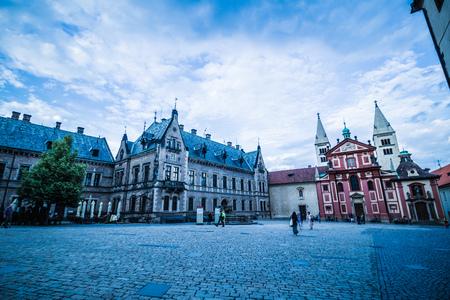 The third castle courtyard of Prague Castle at summer in Prague, Czech Republic Imagens - 133425981