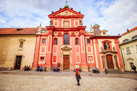 The third castle courtyard of Prague Castle at summer in Prague, Czech Republic Imagens - 133425989