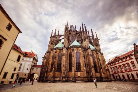 The third castle courtyard of Prague Castle at summer in Prague, Czech Republic Imagens - 133425988