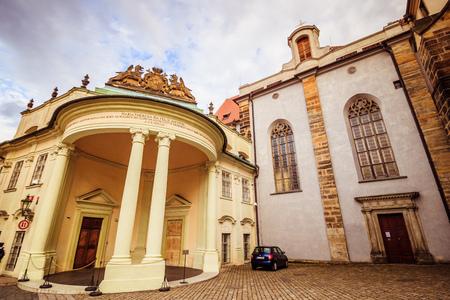 The third castle courtyard of Prague Castle at summer in Prague, Czech Republic Imagens - 133425990