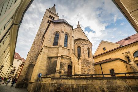 The third castle courtyard of Prague Castle at summer in Prague, Czech Republic Imagens - 133425987