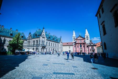 The third castle courtyard of Prague Castle at summer in Prague, Czech Republic Imagens - 133425994