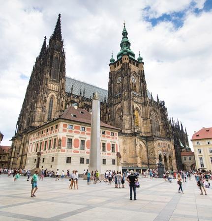 The third castle courtyard of Prague Castle at summer in Prague, Czech Republic Imagens - 133425998