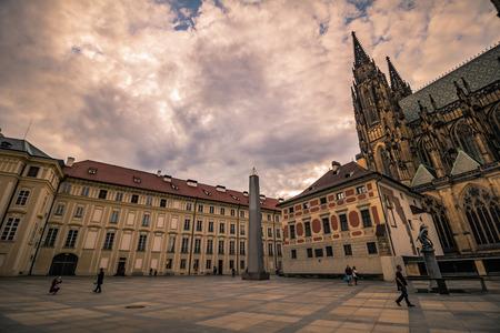 The third castle courtyard of Prague Castle at summer in Prague, Czech Republic Imagens - 133426002