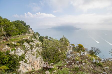 Parco Astarita on the island Capri, Italy Standard-Bild - 146874392